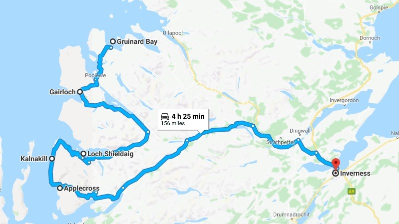 nc500 day six - our route & stops - Destination Addict