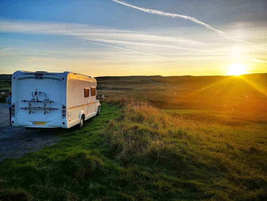 Parked up in the Breacon Beacons - Van Life UK - Destination Addict