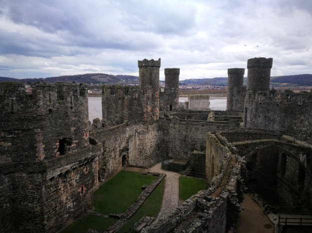 Top of Conwy Castle, Wales