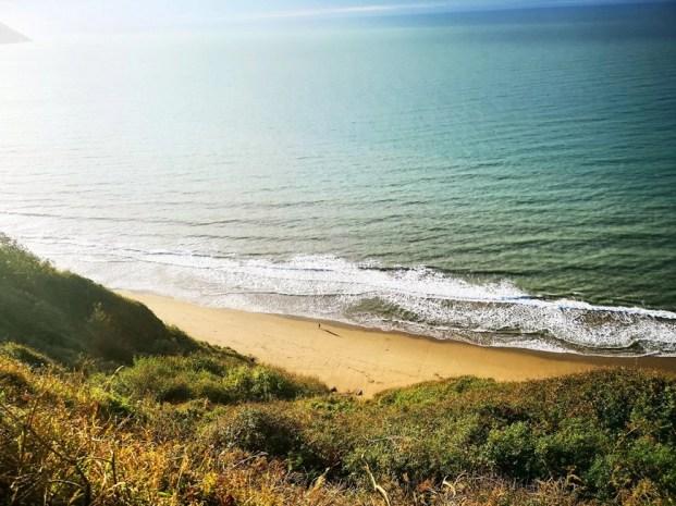 Visiting Wales - Penbryn Beach