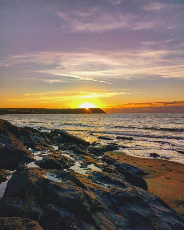 Sunset On a Visit To Penbryn Beach