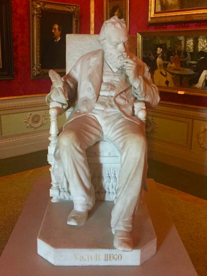 Palazzo Pitti - Statue of Victor Hugo (author of Les Miserables)