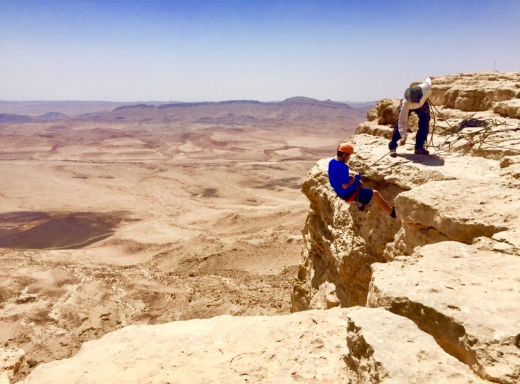 "Rappelling with ""Deep Desert Israel"""