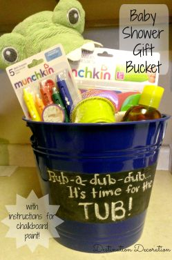 Baby Shower Gift Bucket-Pinterest