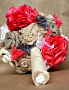 Fabric Flower Bouquet 5