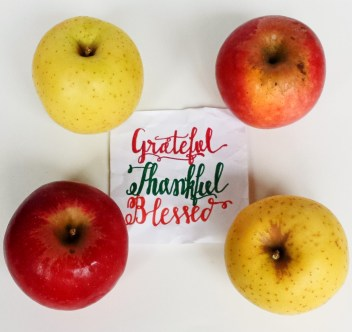 Grateful, Thankful, Blessed: Fake Calligraphy with Sharpies