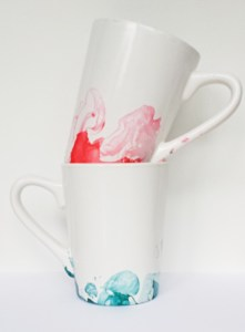 Marbled Nail Polish Mugs