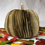 DIY Fall Book Pumpkin