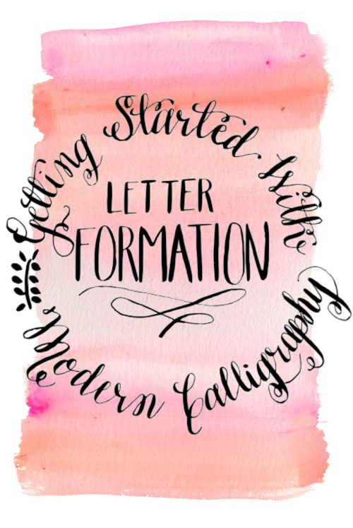 Getting Started with Modern Calligraphy -- Letter Formation -- Destination Decoration