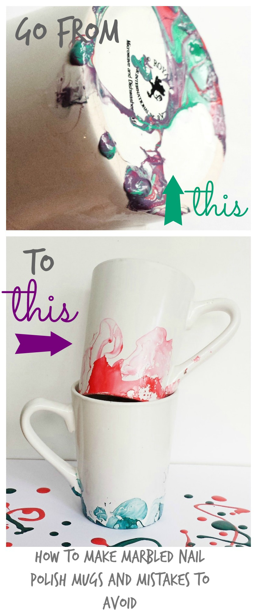 Marbled nail polish mugs 6 things i wish i had known before marbled or watercolor nail polish mugs solutioingenieria Image collections