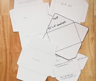 Envelope Templates Cut Out