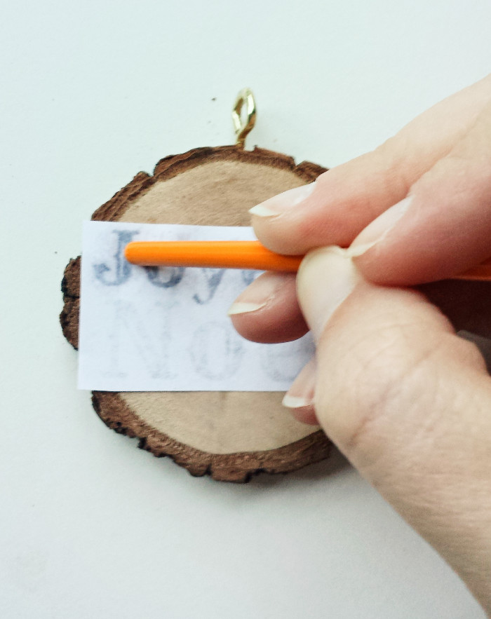 Diy Rustic Wood Slice Christmas Ornaments