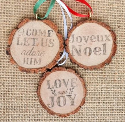 Use Wood Slices to Create Festive Ornaments