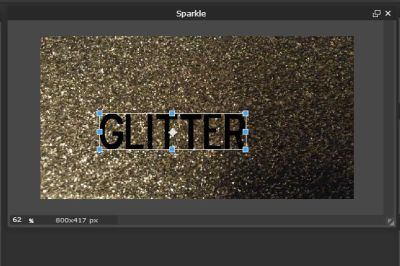 Giving an Extra Sparkle to Text Using Pixlr
