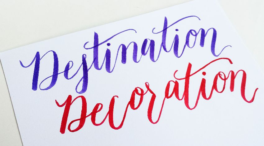 How To Create Brush Lettering Using Tombow Pens
