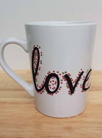 How to Make a Multi-Colored Love Sharpie Mug