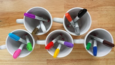 Making Sharpie Mugs with Oil-Based Sharpies and Dollar Tree Mugs