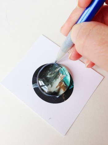 Dollar Store Crafts - Make Your Own Photo Magnets with Glass Gems - Destination Decoration