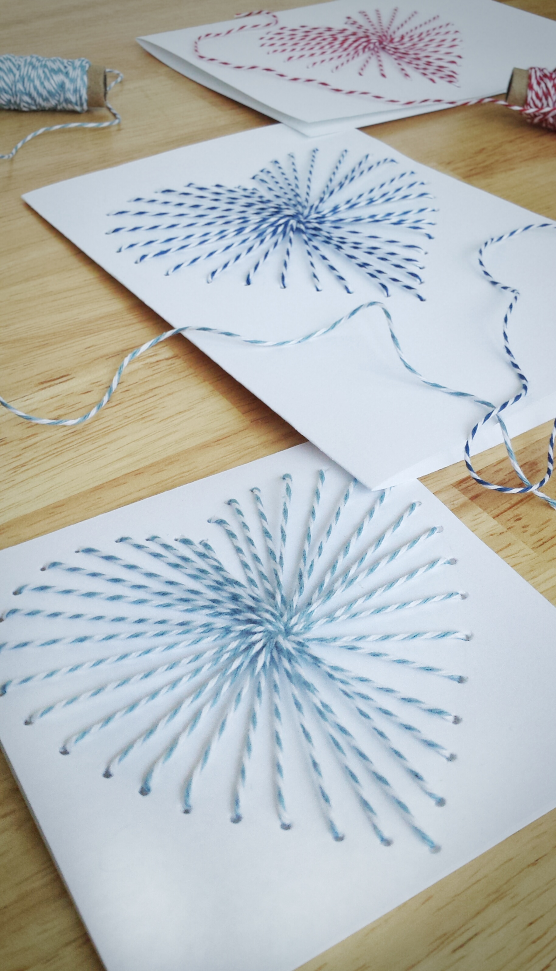 Hand sewn greeting cards with bakers twine how to make hand sewn greeting cards use bakers twine to make a gorgeous kristyandbryce Images