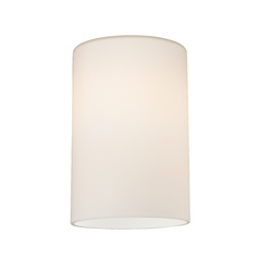 Satin White Cylinder Glass Shade Lipless With 1 5 8 Inch Er