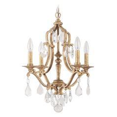 Capital Lighting Blakely Antique Gold Mini Chandelier