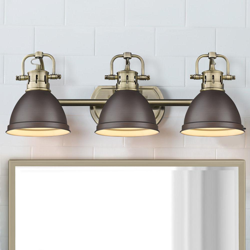 golden lighting duncan ab aged brass bathroom light at destination lighting
