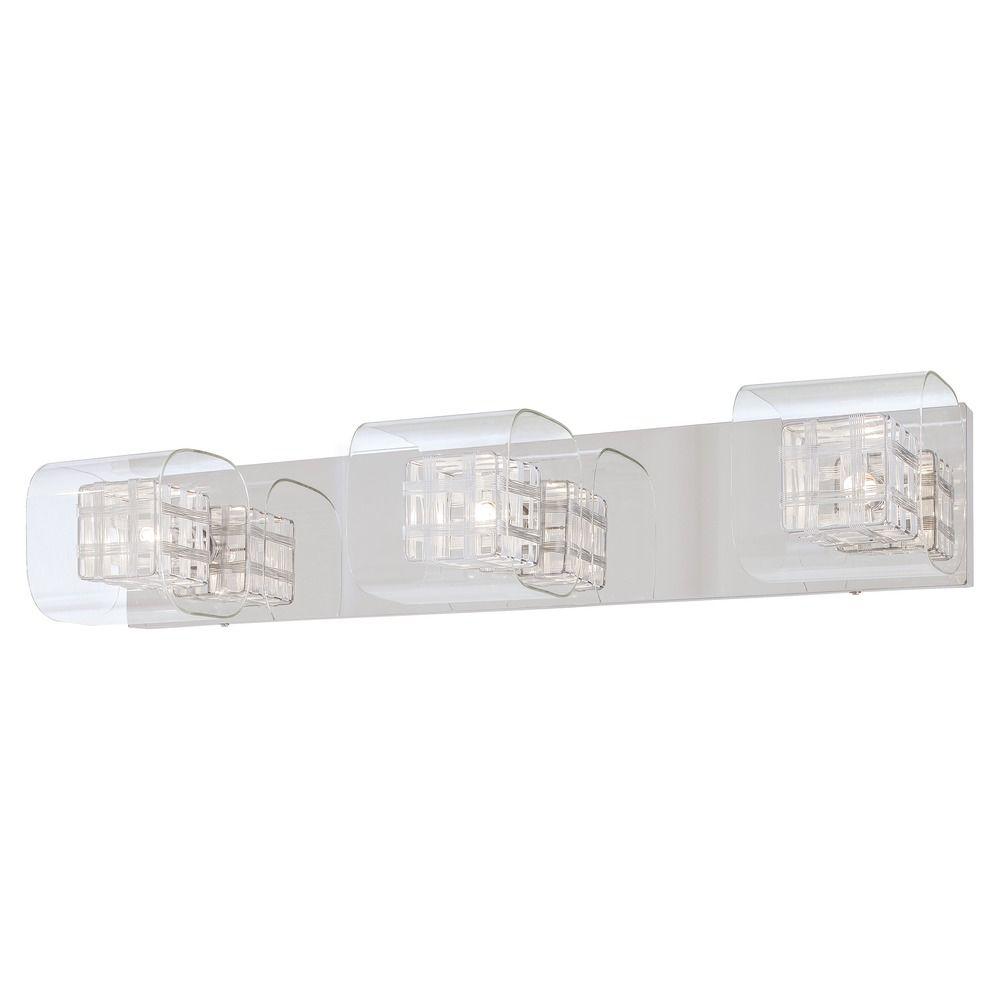 three light bathroom vanity light with woven metal shade at destination lighting