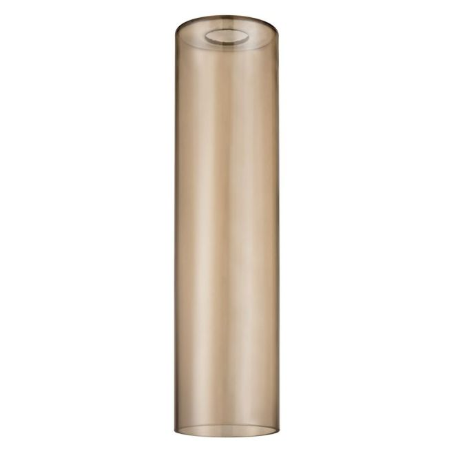 16 Inch Tall Cylinder Amber Glass Shade With 1 5 8 Er