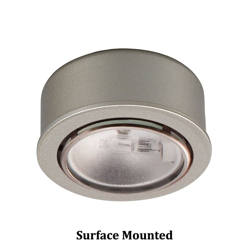12v halogen puck light recessed surface mount brushed nickel by wac lighting at destination lighting