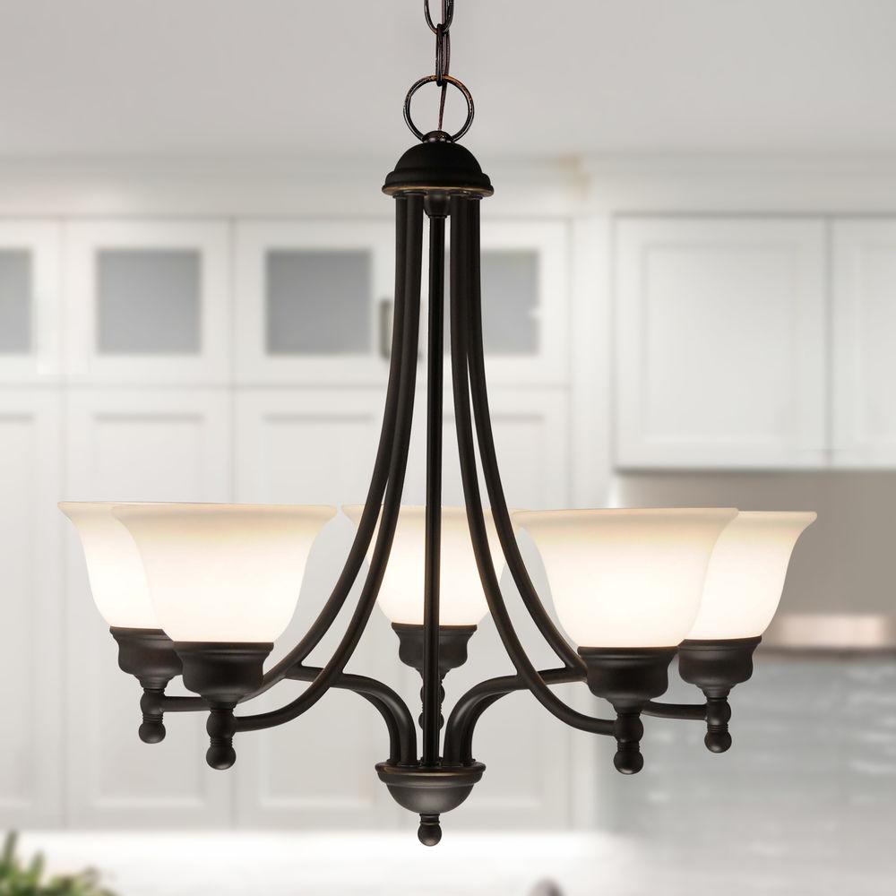 bronze chandelier with five lights at destination lighting
