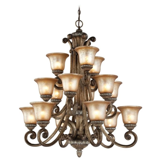 Dolan Designs Lighting 3 Tier 15 Light Chandelier In Verona 2403