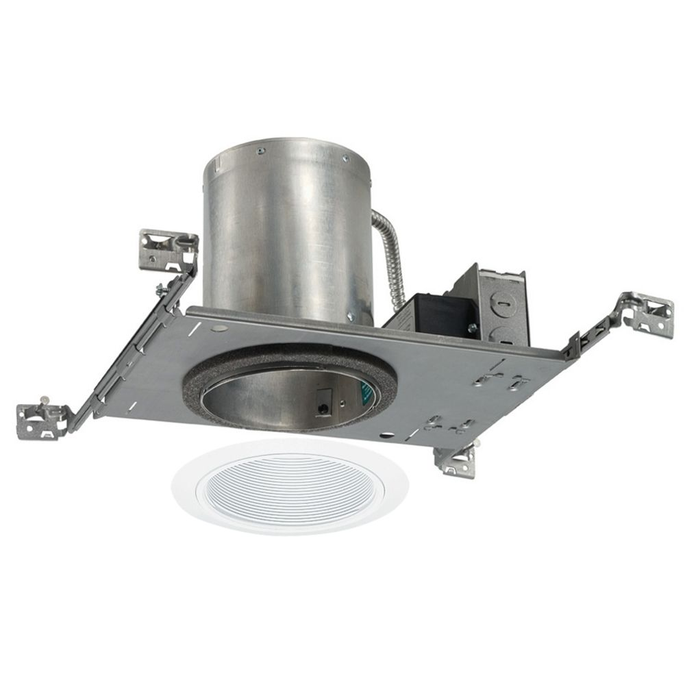 5 inch recessed led lighting kit with white trim at destination lighting