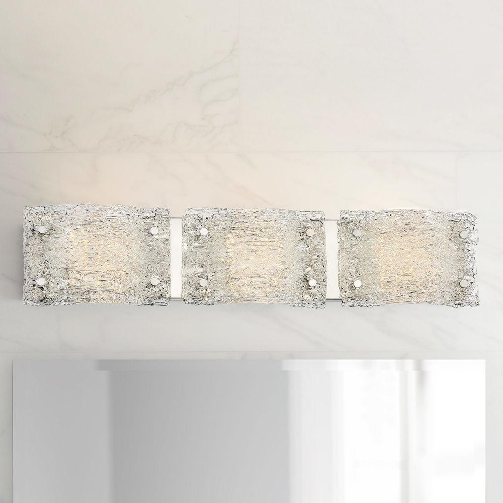 george kovacs forest ice chrome led bathroom light at destination lighting