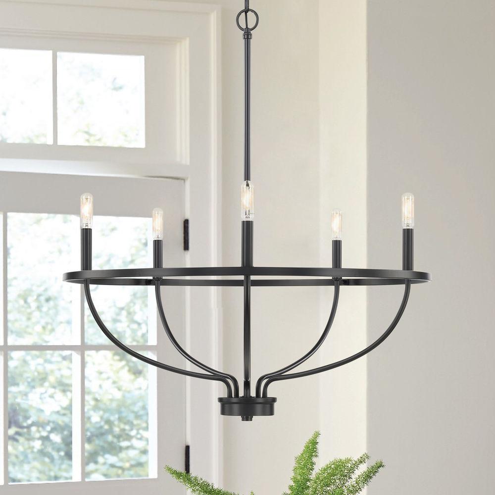 homeplace by capital lighting greyson matte black chandelier at destination lighting