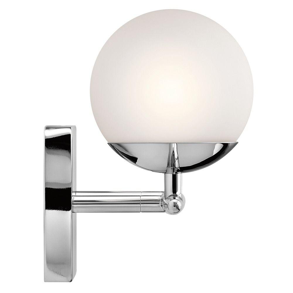 mid century modern bathroom light chrome jasper by kichler lighting at destination lighting