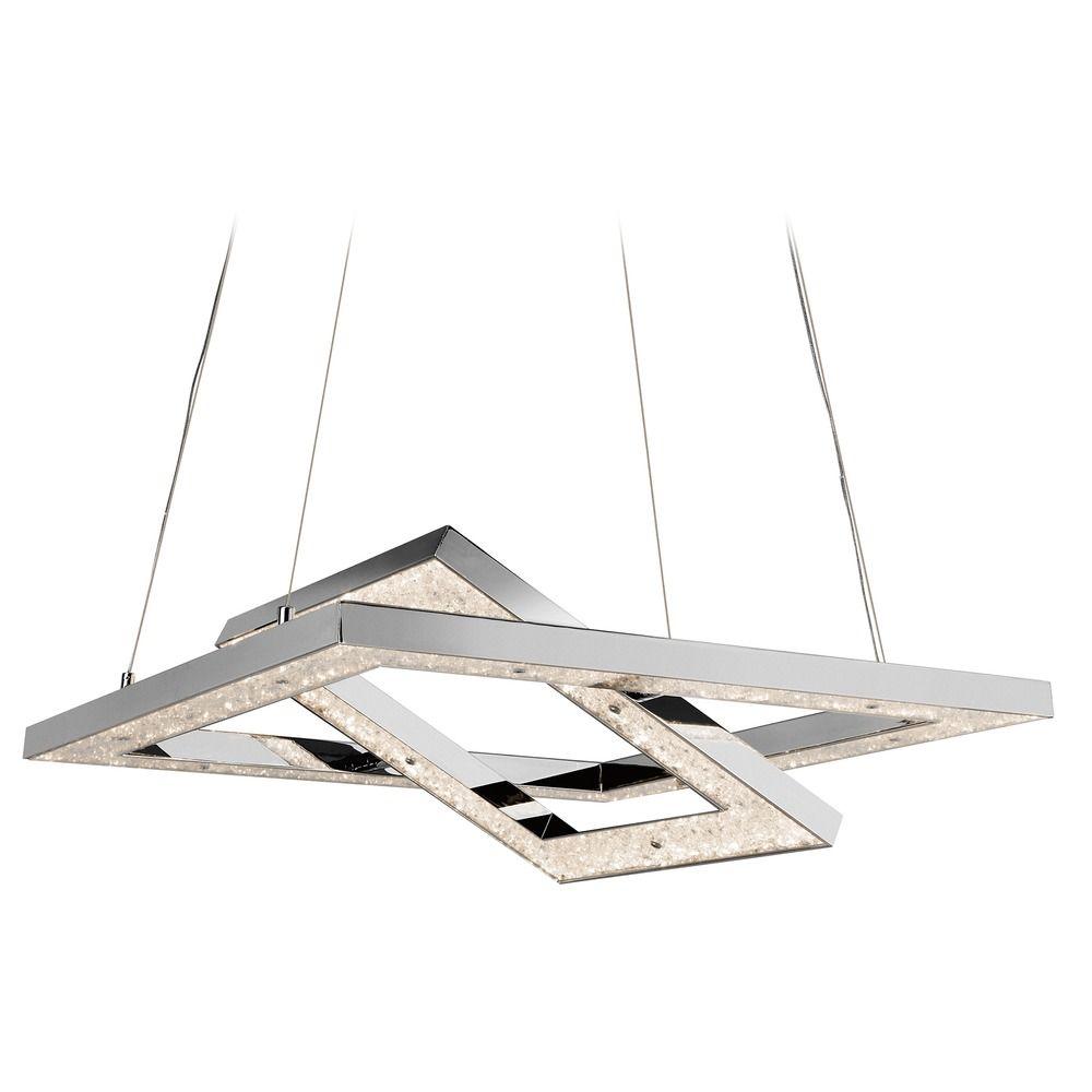 elan lighting crushed ice chrome led chandelier at destination lighting
