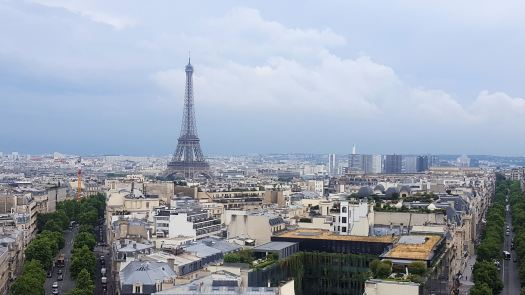 Paris From The top of the Arc de Triomphe