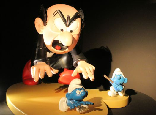 Smurfs and Gargamel at MOOF