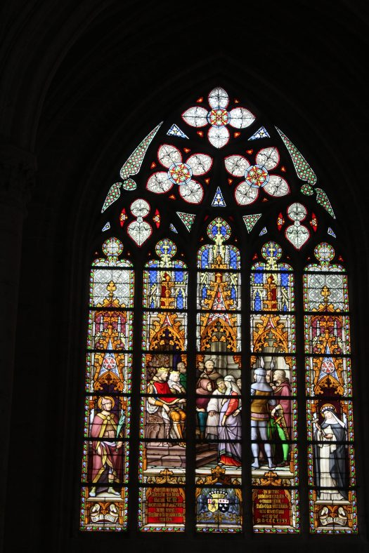 St Michael and St Gudula Cathedral Stain Glass Window