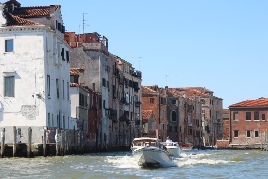 View From the Water Bus as You Approach Venice