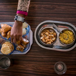 Enjoying Indian delights