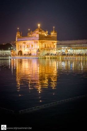 The Golden Temple after sunset