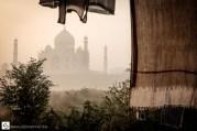 Drying clothes at Taj Mahal