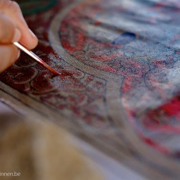 Detail of Myanmar style painting