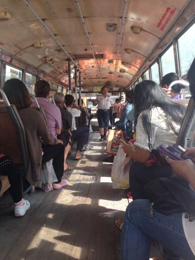 Bus ride in Bangkok