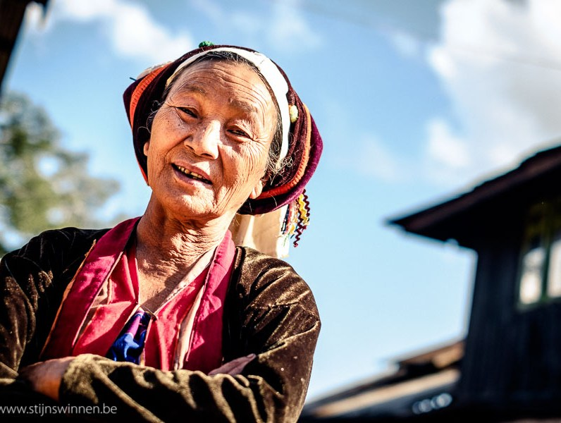 Shan woman in traditional outfit
