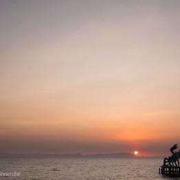 Sunset at Kep beach