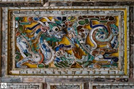 Tiles in Tomb, Hue, Vietnam