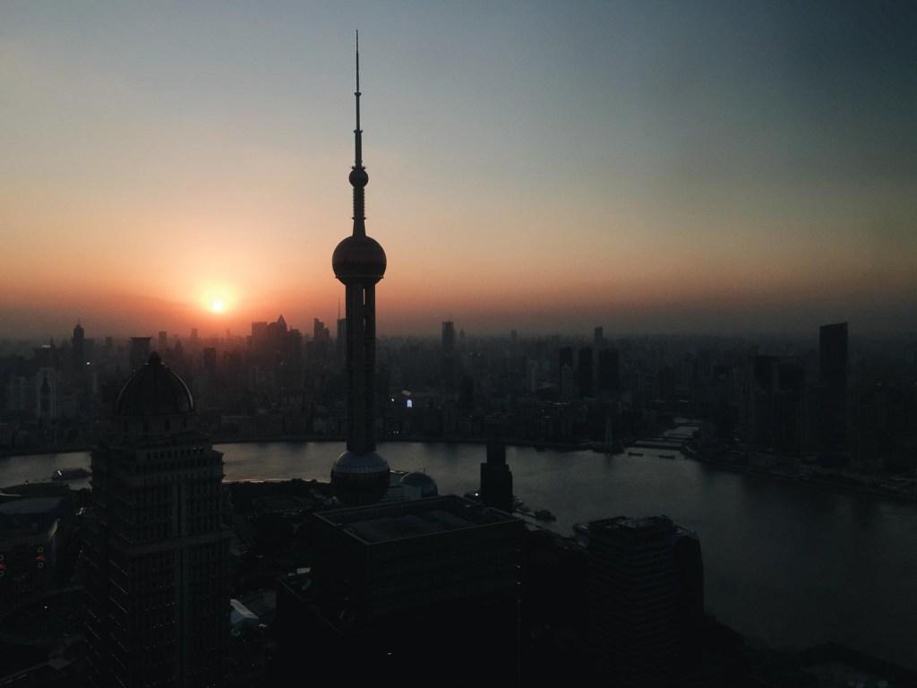 Lindo por do sol na China
