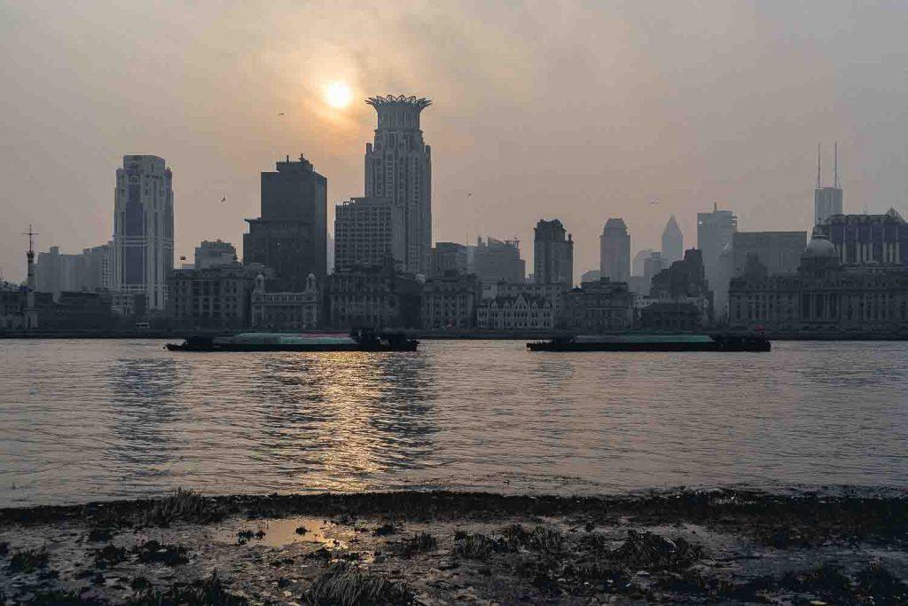 Vista do rio de Xangai